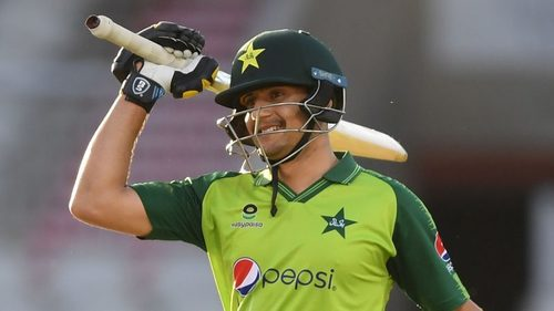 Haider becomes first Pakistani to score half century on T20I debut