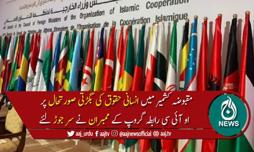 اوآئی سی رابطہ گروپ اجلاس :مقبوضہ کشمیرکی صورتحال پرتشویش کااظہار