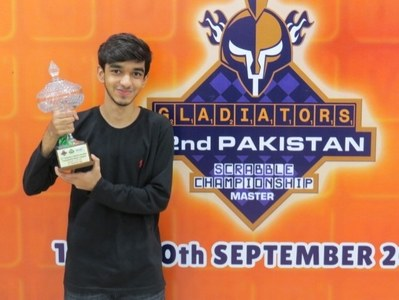 14 years old wonderkid clinches Gladiators 32nd Pakistan Scrabble Championship