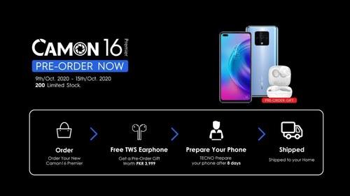 TECNO Camon 16 premier; Pre-Order sale starts today!