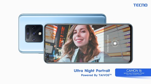 TECNO launches Camon 16 with TAIVOS camera solution