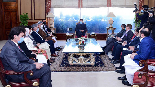 PM Imran reiterates Pakistan's consistent support to the Afghan peace process