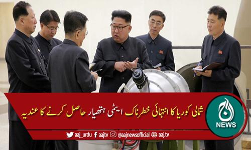 شمالی کوریا نے انتہائی خطرناک ایٹمی ہتھیار حاصل کرنے کا عندیہ دے دیا