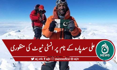 کوہ پیما علی سد پارہ کے نام پر انسٹیٹیوٹ کی منظوری