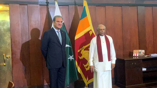 FM Qureshi, Gunawardena agree to enhance cooperation in diverse fields