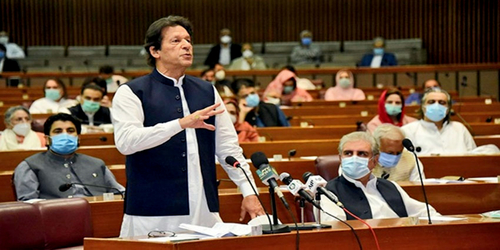 Prime Minister Imran Khan secures vote of confidence