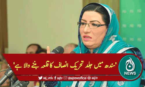 'سندھ میں جلد تحریک انصاف کاقلعہ بننے والا ہے'