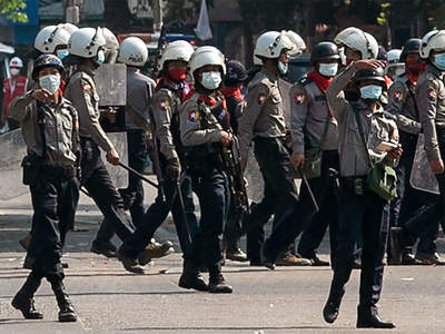Security forces kill four as thousands hold street protests in Myanmar