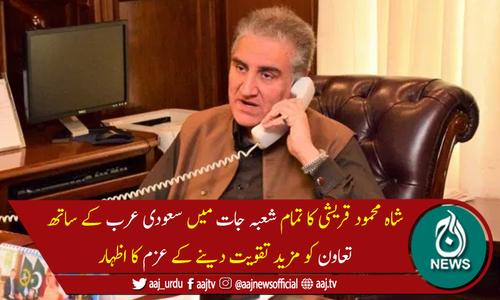 پاکستان سعودی عرب کی سالمیت کیلئےحمایت جاری رکھے گا،وزیرخارجہ
