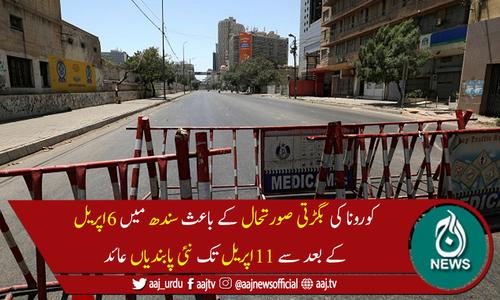 کوروناکے بڑھتے کیسز: سندھ میں ایک بار پھر پابندیاں سخت