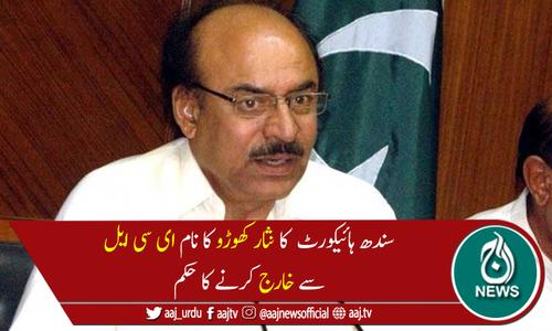 سندھ ہائیکورٹ نے نثار کھوڑو کو بیرون ملک جانے کی اجازت دے دی