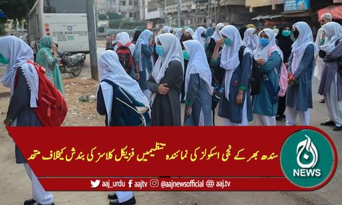 سندھ بھر کے نجی اسکولز کی نمائندہ تنظیمیں فزیکل کلاسز کی بندش کیخلاف متحد