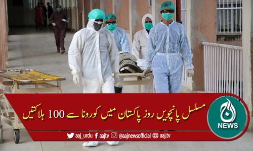 پاکستان: کورونا سے ایک دن میں مزید 100 ہلاکتیں