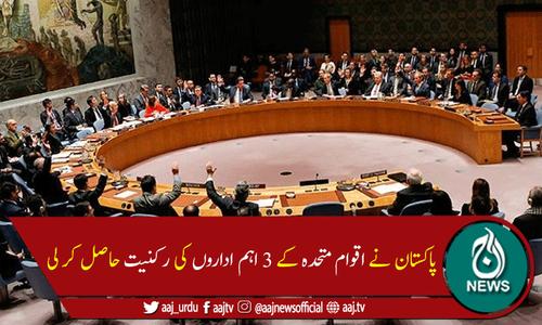 پاکستان اقوام متحدہ کے 3 اہم اداروں کا رکن منتخب ہوگیا