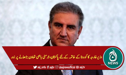 وزیرخارجہ کا کورونا کے خاتمہ کےلئے پاکستان، جرمنی باہمی تعاون بڑھانے پر زور