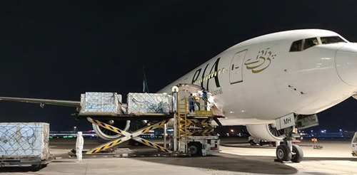 PIA special flight airlifts 2m doses of Sinovac vaccine to Pakistan from China