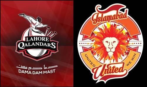 PSL 6: Lahore Qalandars to face Islamabad United in Abu Dhabi tomorrow