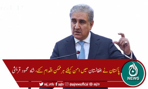 افغانستان کا مسئلہ سیاسی ہے جو مذاکرات سے ہی حل ہوگا، وزیرخارجہ