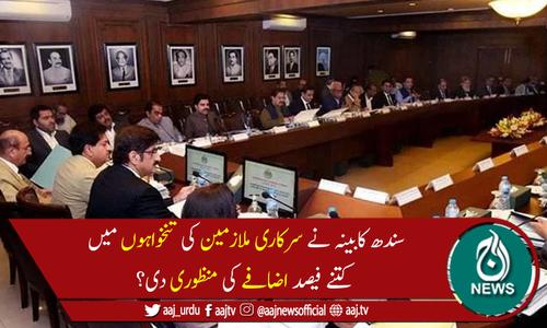 سندھ میں سرکاری ملازمین کی تنخواہوں میں 20 فیصد اضافے کی منظوری