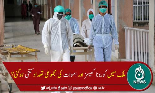 پاکستان میں کورونا سےمزید 46افراد لقمہ اجل بن گئے، 1,038نئے کیسز رپورٹ