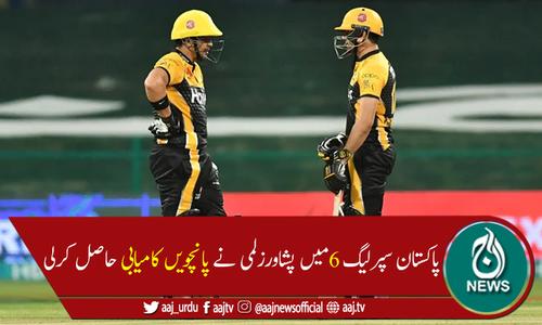 پی ایس ایل 6: پشاور زلمی کے ہاتھوں کراچی کنگز کو 6 وکٹوں سے شکست