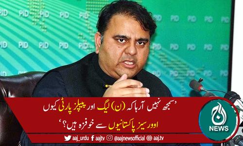 نوازشریف اور آصف زرداری پر اوورسیز پاکستانیوں کو اعتماد نہیں، فواد چوہدری