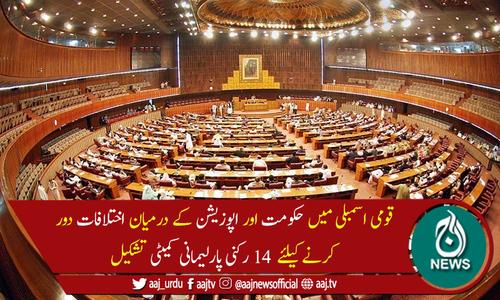 حکومت اوراپوزیشن کےدرمیان اختلافات دور کرنے کیلئے پارلیمانی کمیٹی تشکیل