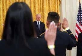 Biden celebrates new citizens as U.S. launches naturalization effort