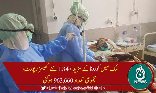 پاکستان میں کورونا سے مزید 19 اموات، جاں بحق افراد کی تعداد 22,427 ہوگئی