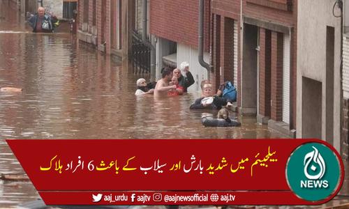 بیلجیئم کے مختلف علاقوں میں سیلاب کے باعث 6 افراد ہلاک