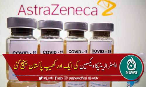 ایسٹرازنیکا ویکسین کی ایک اورکھیپ پاکستان پہنچ گئی، کراچی ایکسپو میں رجسٹریشن بند