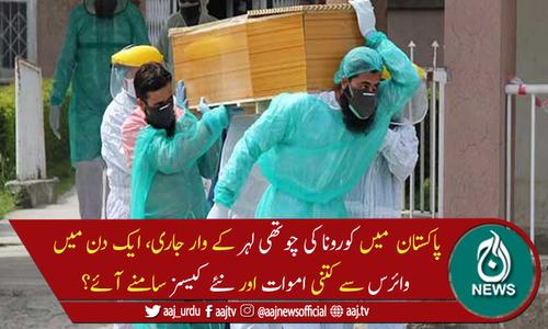 پاکستان میں کورونا وائرس سے مزید 40 اموات، 4,858 نئے کیسز رپورٹ