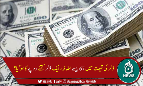 انٹربینک میں ڈالر کی قیمت میں 67پیسے اضافہ، 163 روپے سے تجاوز