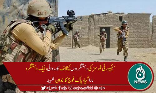 جنوبی وزیرستان: فورسز کی کارروائی، ایک دہشتگرد ہلاک، پاک فوج کا جوان شہید
