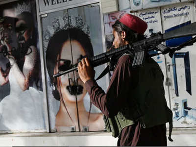 Images of women defaced as Kabul faces up to Taliban rule