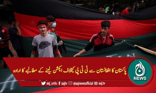 پاکستان کا افغانستان سے ٹی ٹی پی کیخلاف ایکشن لینے کے مطالبے کا ارادہ