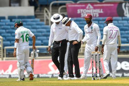 Play halted after just eight deliveries in West Indies, Pakistan Test