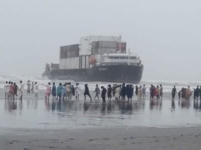 کراچی: سی وی یو پر پھنسے بحری جہاز کو نکالنے کی تیاریاں مکمل