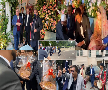 Maryam's son Junaid ties the knot in London; protests held outside