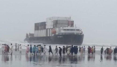 کراچی کے ساحل پر پھنسے جہاز کو نکالنے کیلئے آپریشن کی اجازت