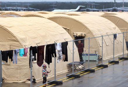 Toys and bouncy castle for Afghan kids stranded at US base in Germany