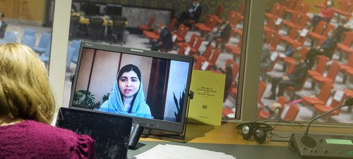 Malala calls on UN to push to keep girls in schools in Afghanistan