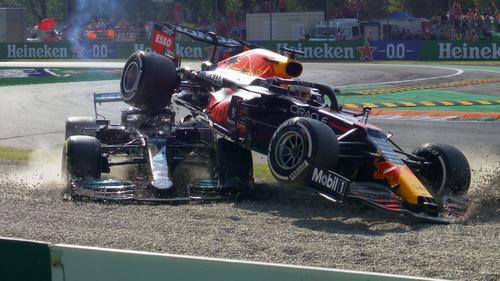 Verstappen and Hamilton crash out of Italian Grand Prix