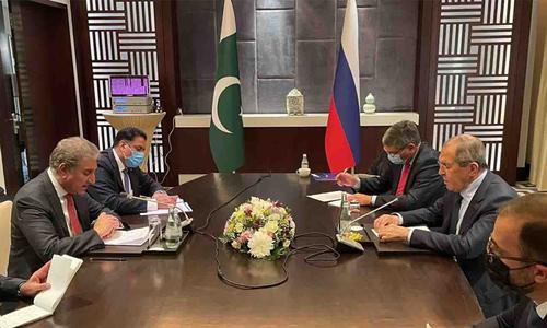 وزیر خارجہ شاہ محمود کی روسی ہم منصب کے ساتھ دوشنبے میں ملاقات