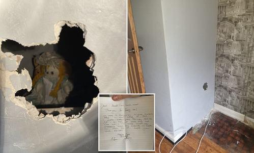 نئے گھر کی دیوار سے کئی سال پرانی گڑیا اور خوفناک خط برآمد