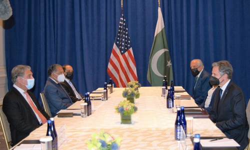 وزیرخارجہ کی امریکی ہم منصب سے ملاقات، افغانستان کی صورتحال پر تبادلہ خیال