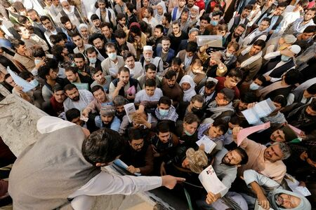 Hundreds throng passport office in Afghan capital