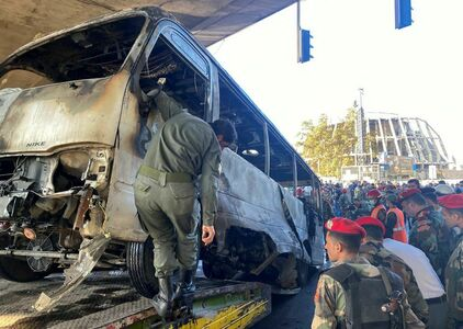 Roadside bomb attack kills 13 Syrian military personnel in Damascus