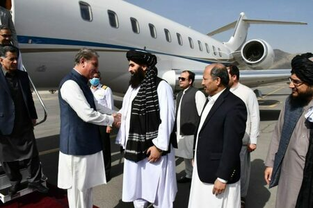 FM Qureshi arrives in Kabul to hold talks with interim government