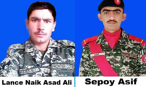 پاک افغان بارڈر پر دہشتگردوں کی باڑ عبور کرنے کی کوشش ناکام، جھڑپ میں 2 اہلکار شہید